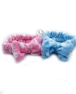 Blue Rosette Headband