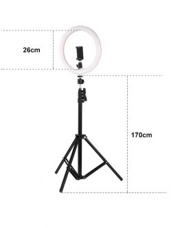 26cm LED Selfie Ring Light with Tripod Stand & Phone Holder