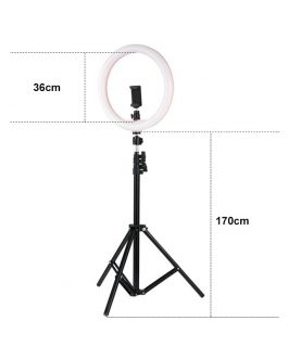 36cm LED Selfie Ring Light with Tripod Stand & Phone Holder