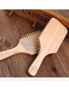 Hair Brush, Eco-Friendly Natural Wooden Bamboo Paddle Hairbrush