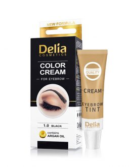 Delia Color Cream For Eyebrow 1.0 Black With Argan Oil