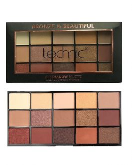 Technic 15 Colours Eyeshadow Palette – Bronze & Beautifu
